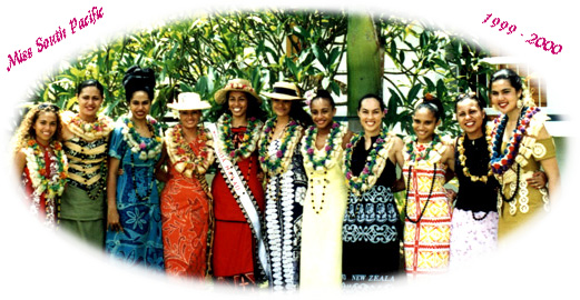 Meilyn with Miss South Pacific contestants